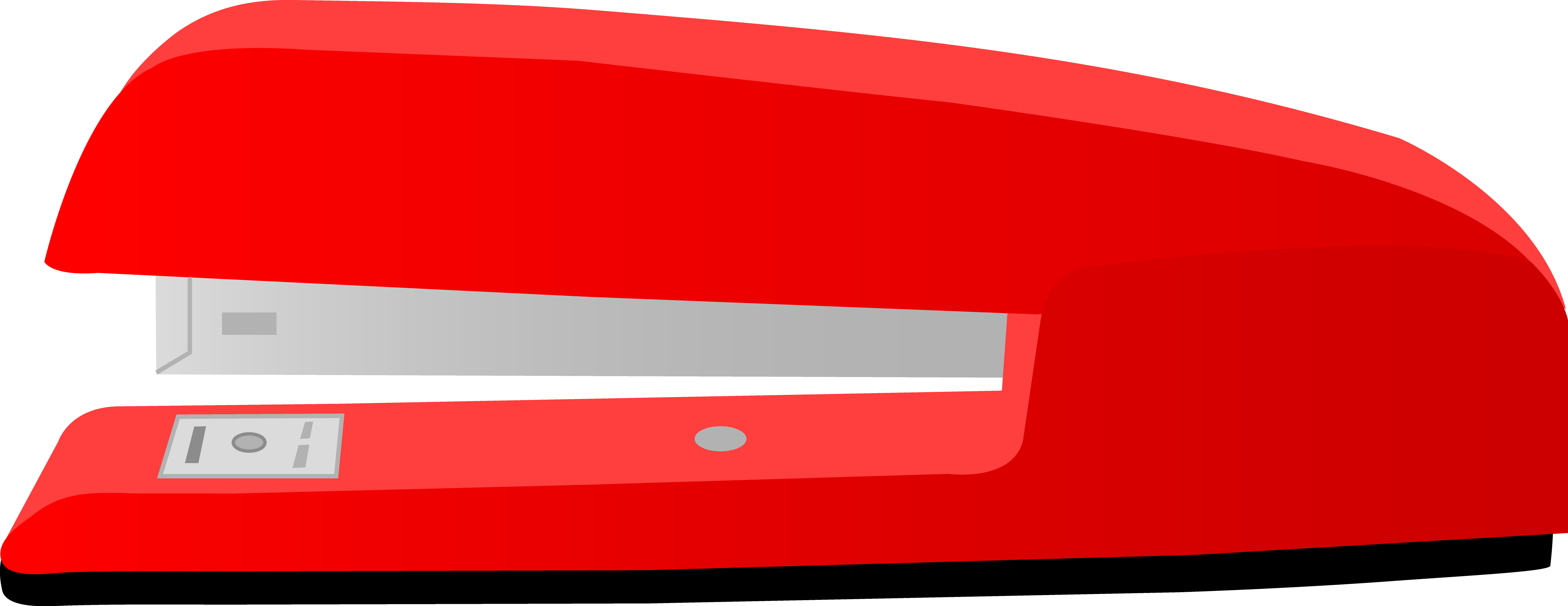 Paper clipart stapled. Large red office desk