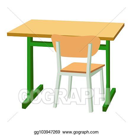 Desk clipart vector school. Clip art and a