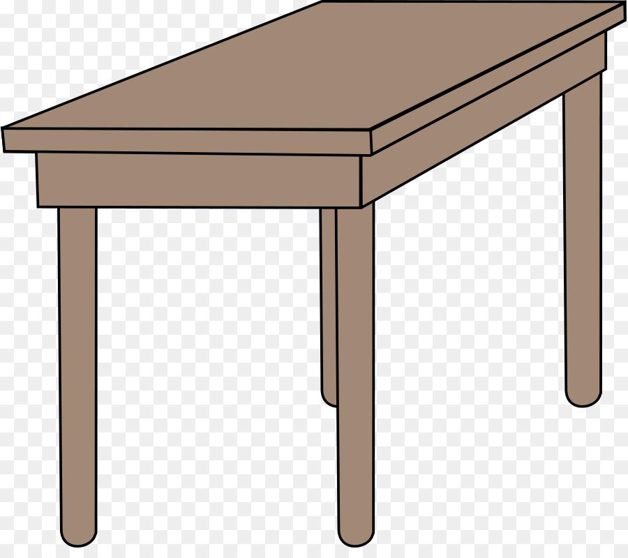Table furniture transparent . Desk clipart wood desk
