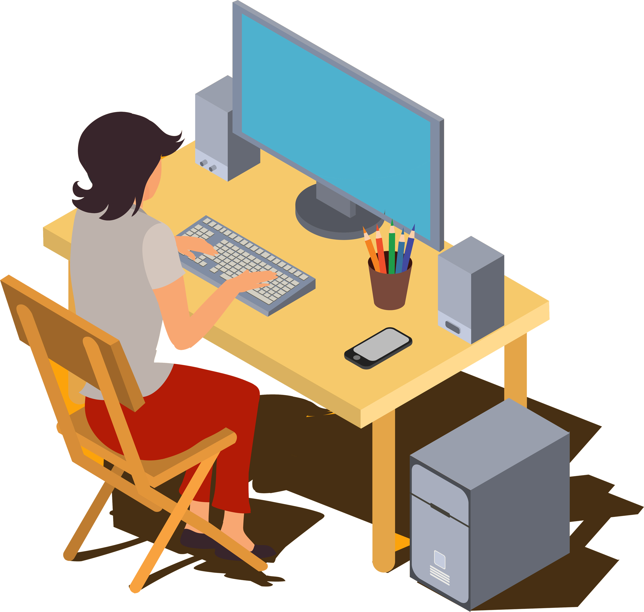 Free online part timejobs. Jobs clipart woman job