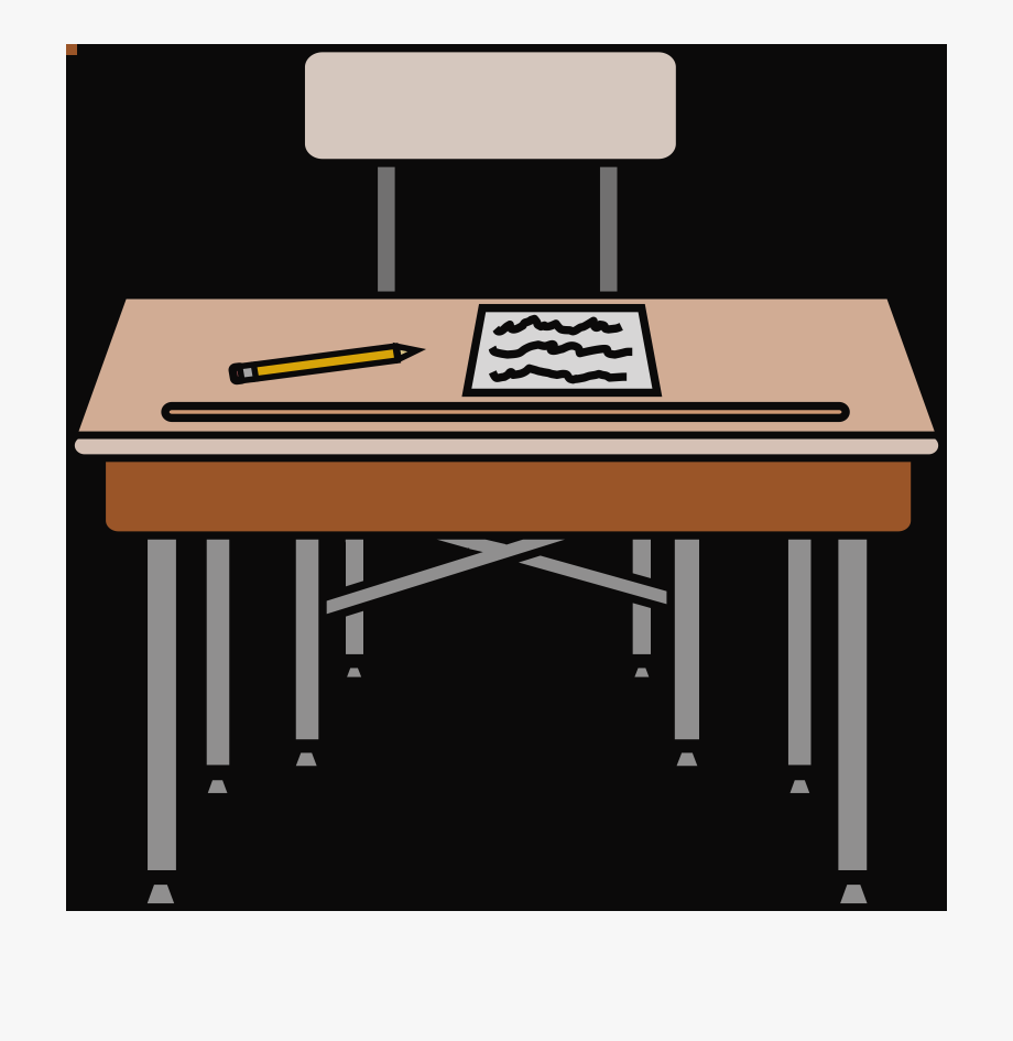 School testing . Desk clipart worksheet