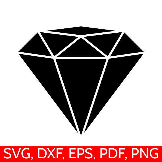 Clipart diamond. Svg file dxf silhouette