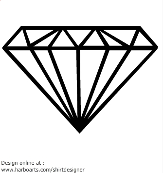 Outline . Clipart diamond