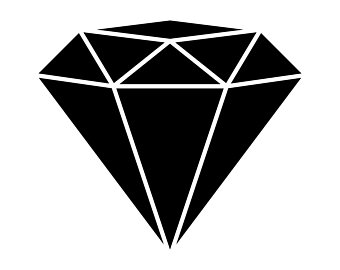 Art etsy svg file. Clipart diamond