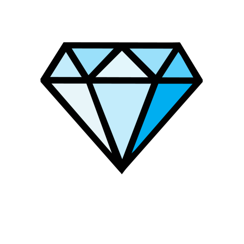 Diamonds clipart simple. Cartoon diamond free download