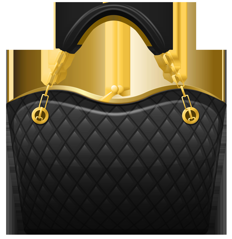 Black handbag png clip. Clipart shirt yellow bag