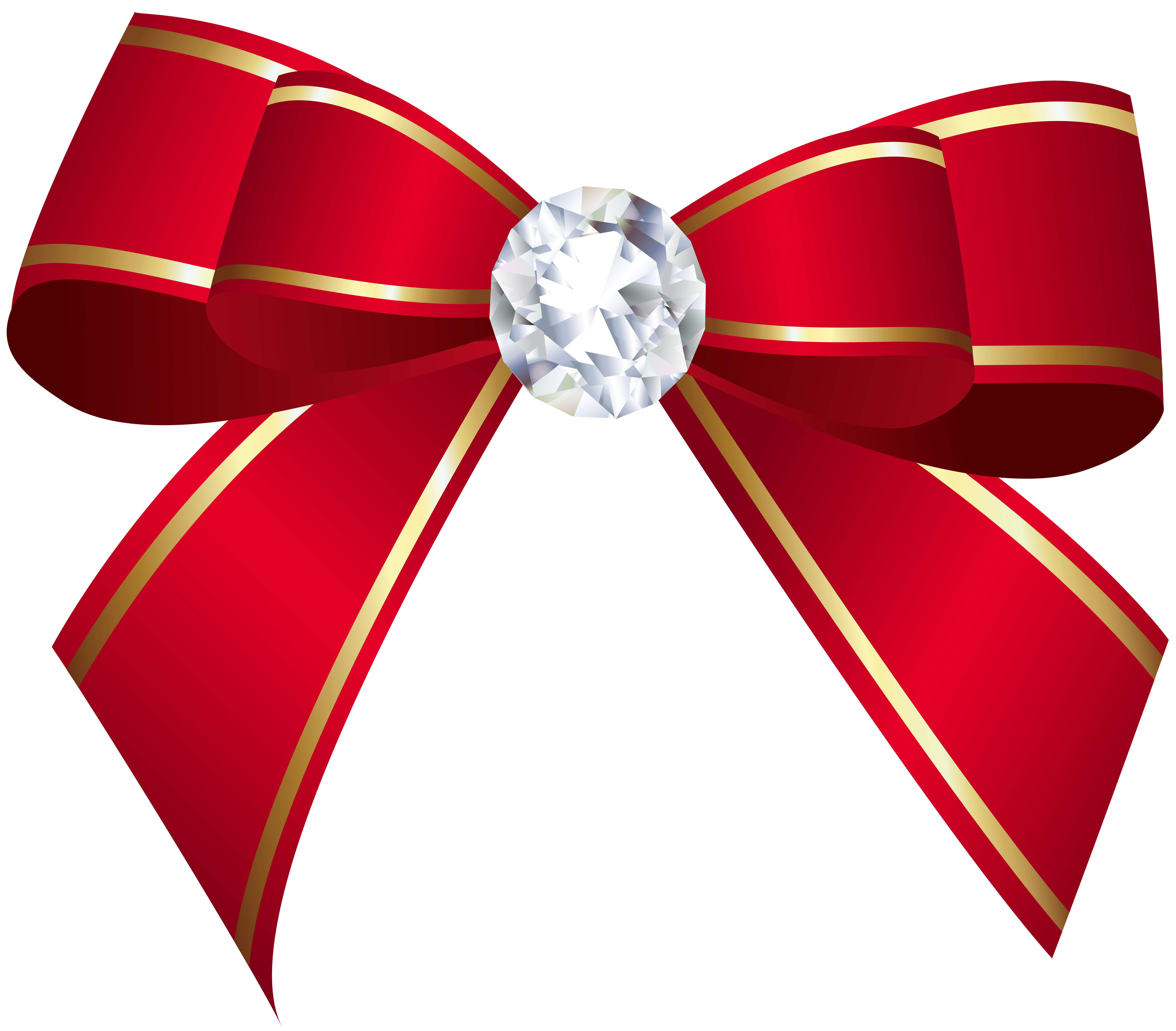 Red bow with png. Clipart diamond banner