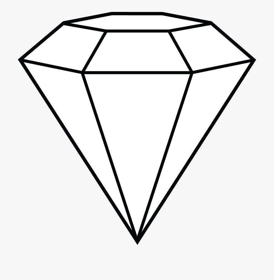 Line art free clip. Diamond clipart black and white