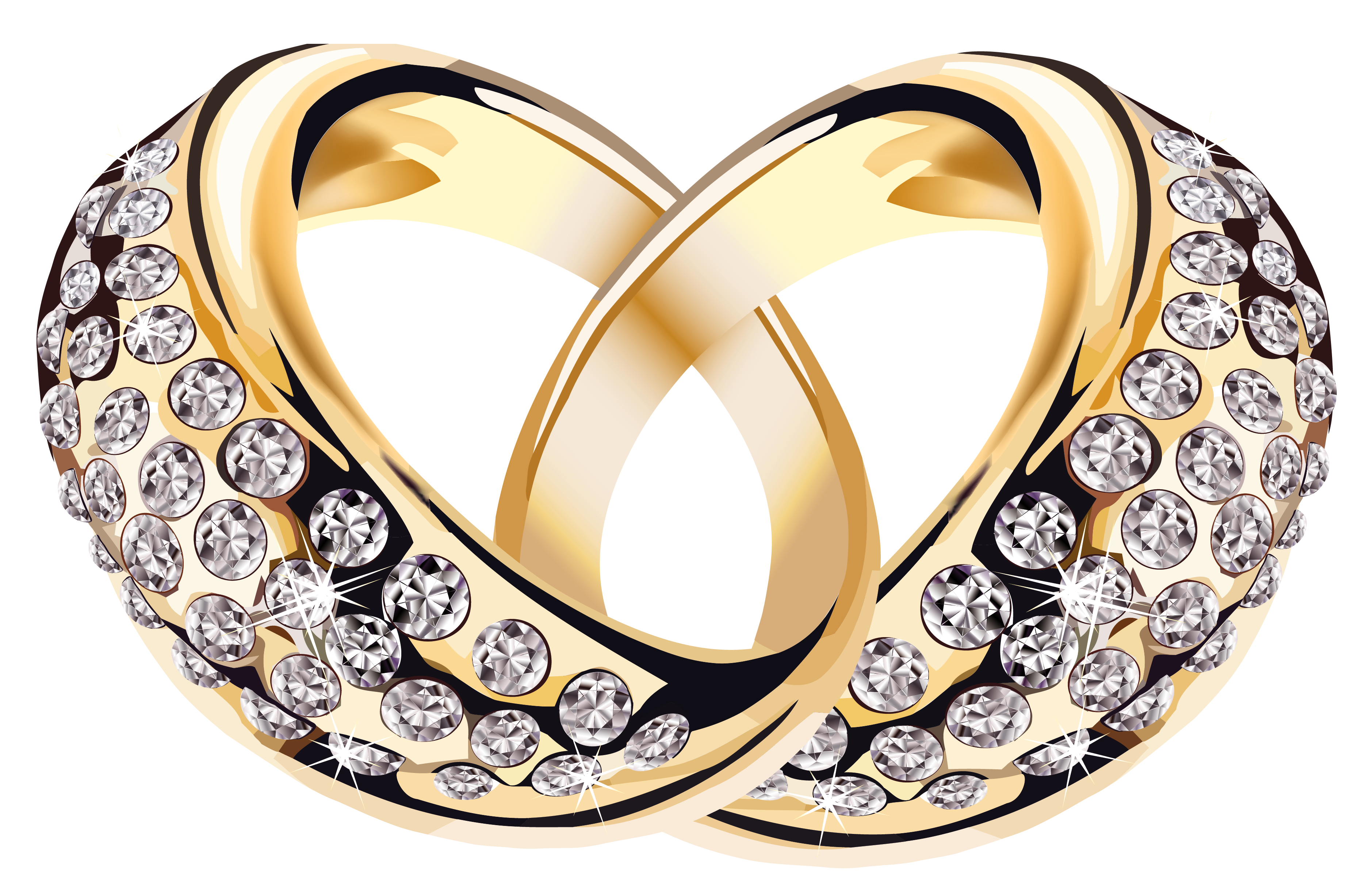 Good clipart high. Gold rings with diamonds