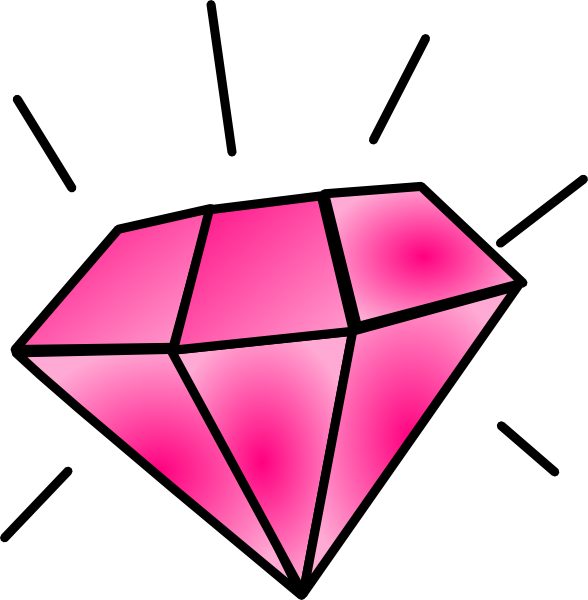 Pink clip art at. Glitter clipart diamond