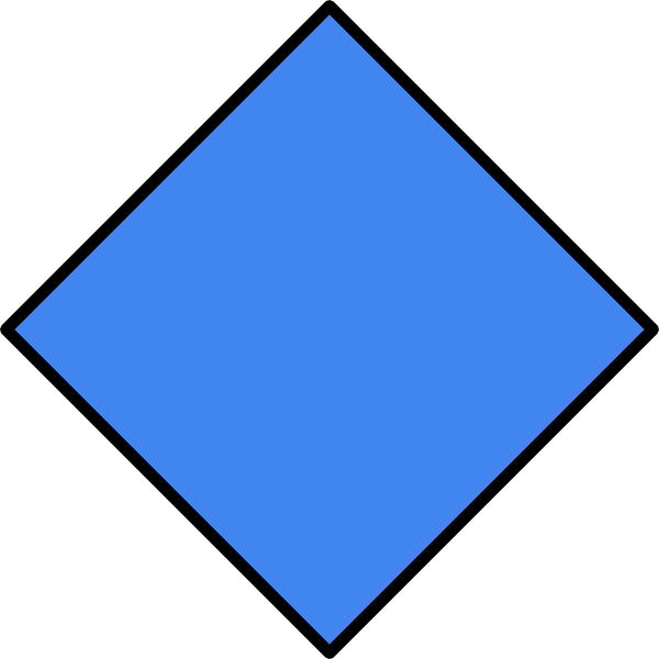 Square clipart blue square. Diamond clip art at