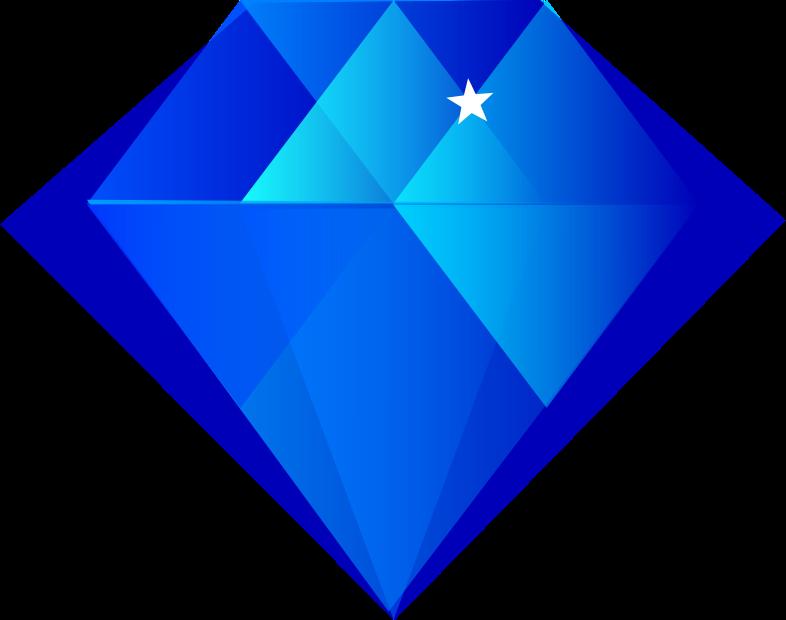 clipart diamond blue sapphire