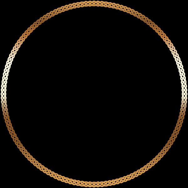 Clipart diamond borders. Round deco border frame