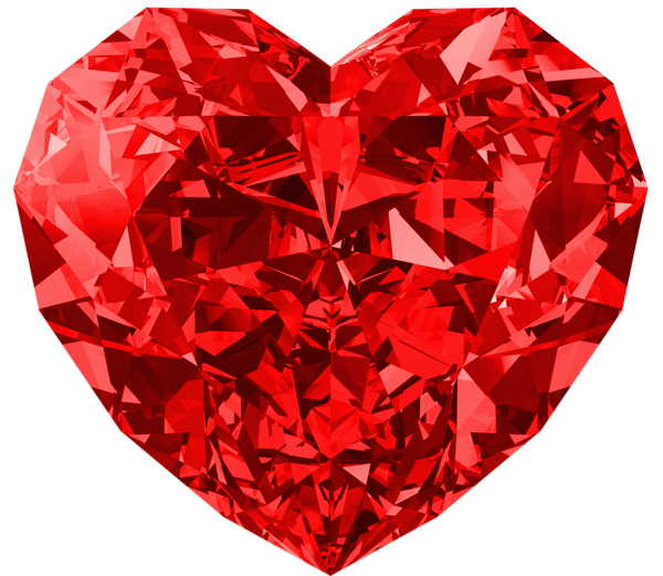 Red diamond large png. Heat clipart multiple heart