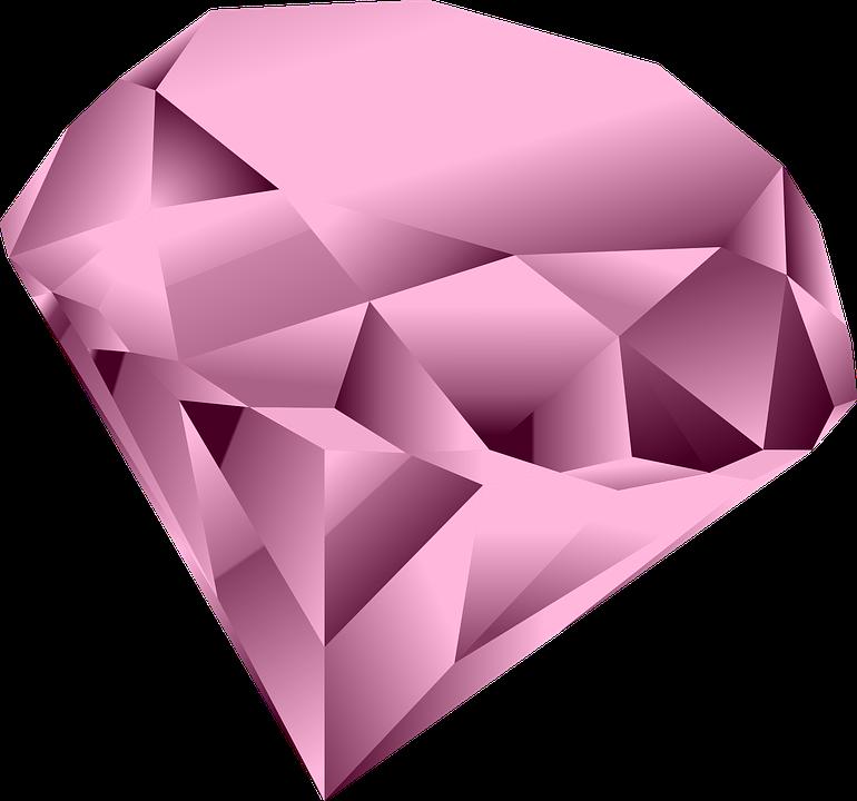 The unique pink diamond. Gem clipart transparent background