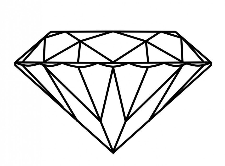 Ring panda free . Diamond clipart coloring page