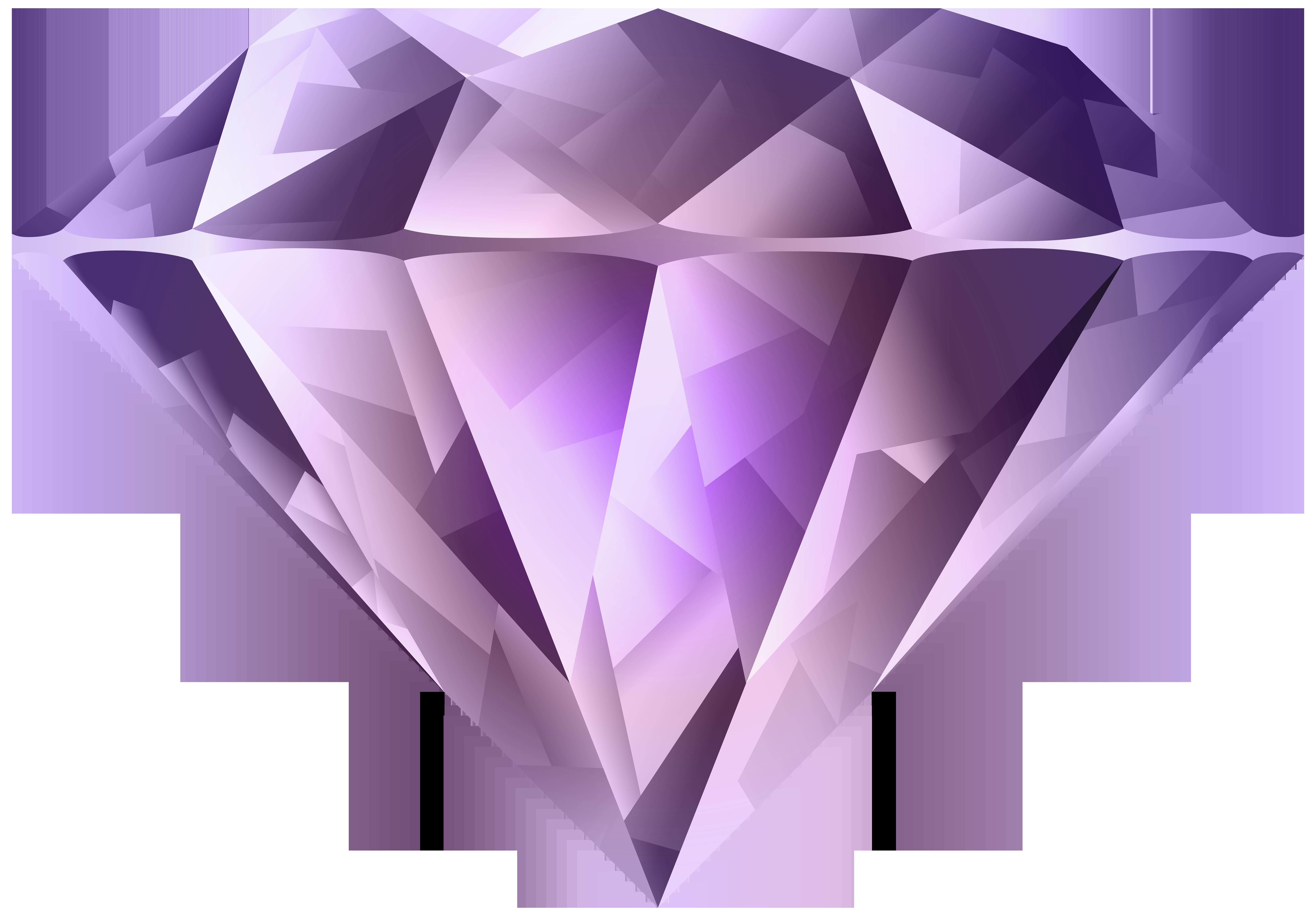 Clipart diamond daimond. Purple pencil and in