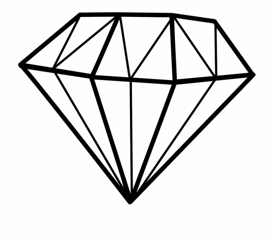 Gems outline . Gem clipart diamond shaped thing