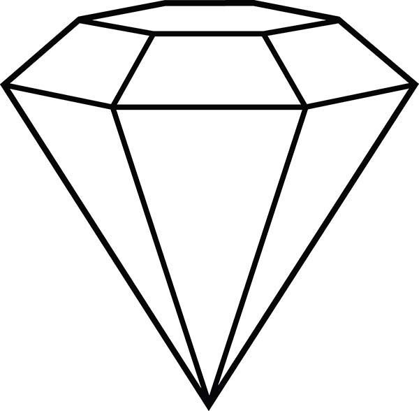 Shape outline pages . Diamond clipart coloring page