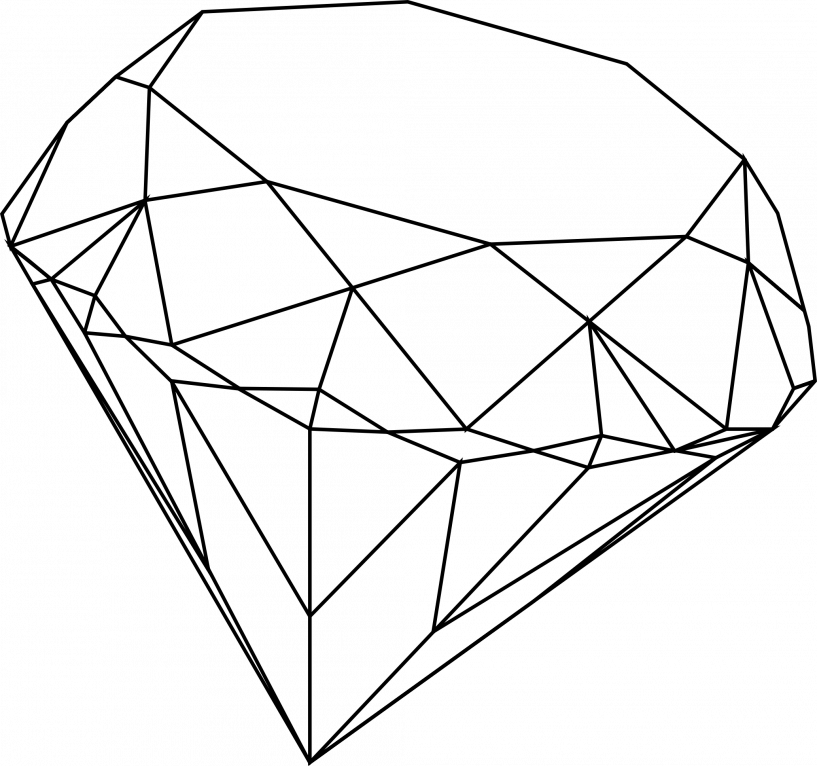 clipart diamond diamond outline