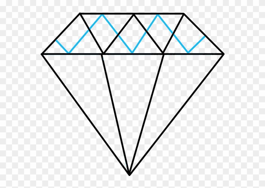 Clipart diamond diamond outline. How to draw