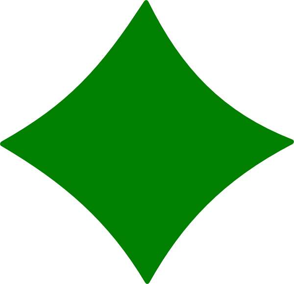 Green clip art at. E clipart diamond