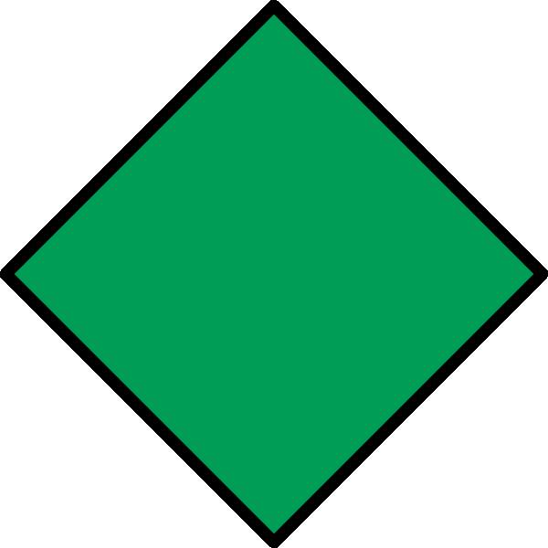 Clipart diamond diamond shape. Green clip art at