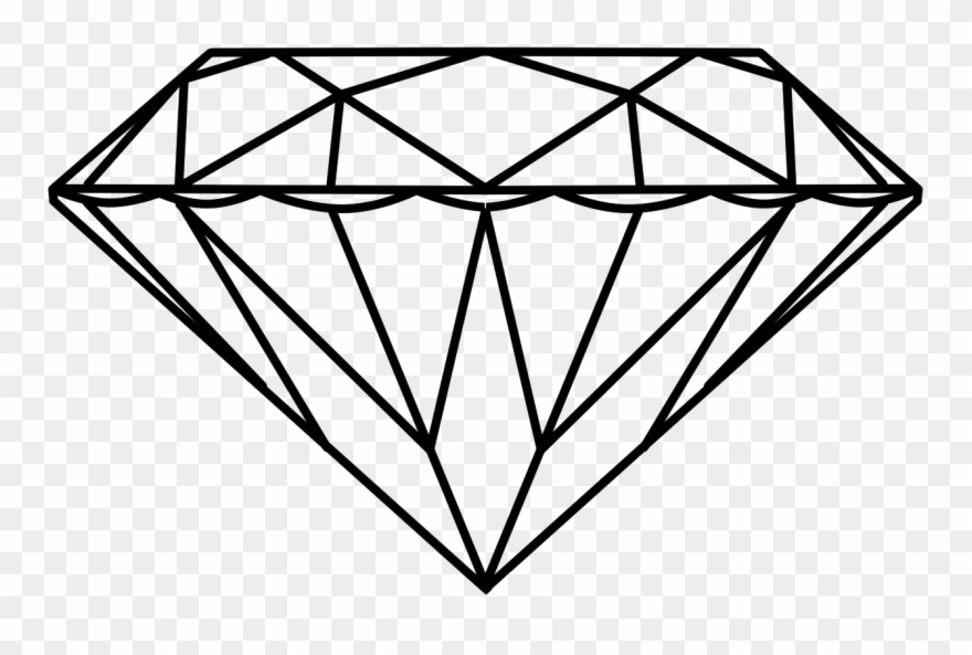 Drawing stone outline png. Diamond clipart dimond