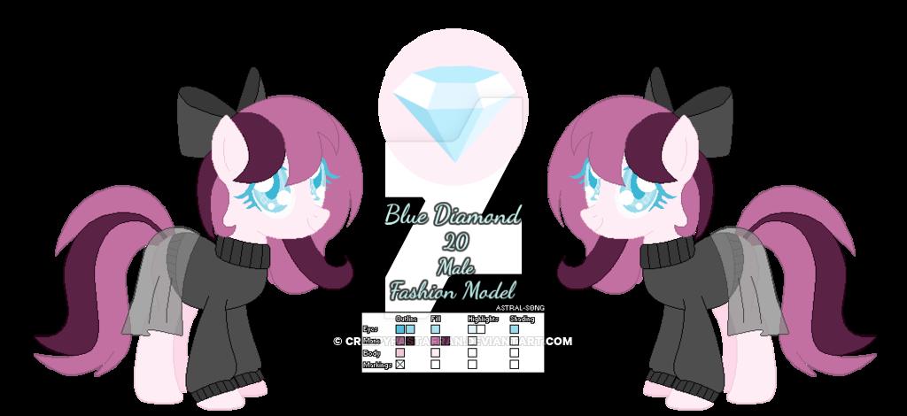 Mlp oc blue ref. Clipart diamond doodle