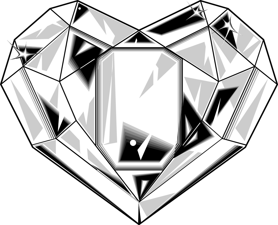 Gem clipart diamond shaped thing.  collection of heart