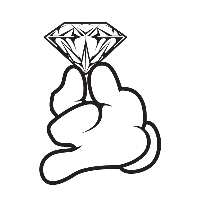 Diamond cartoon drawing at. Diamonds clipart sketch