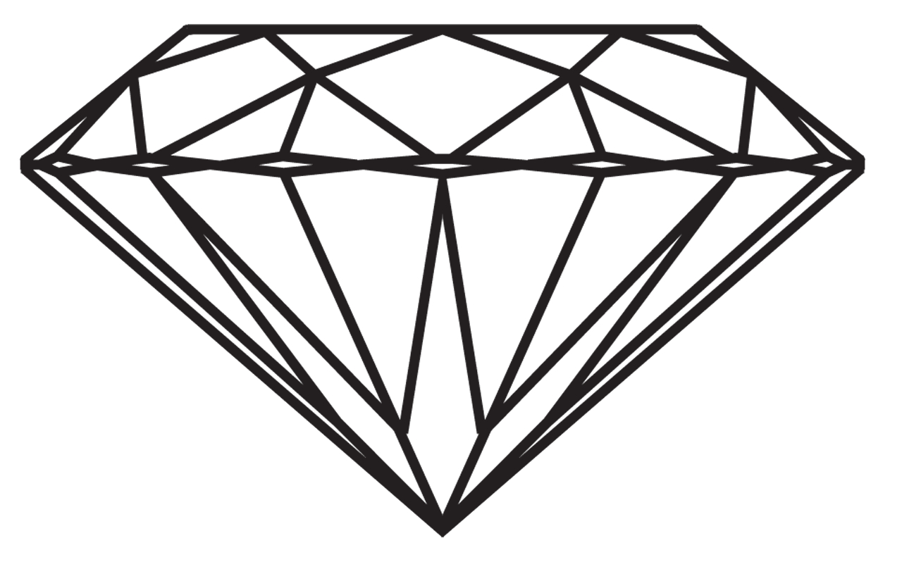 Clipart diamond drawn. Drawing a of tumblr