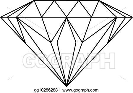 diamond clipart drawn