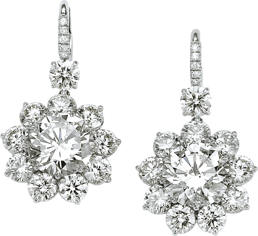 Earring png free images. Gem clipart silver diamond