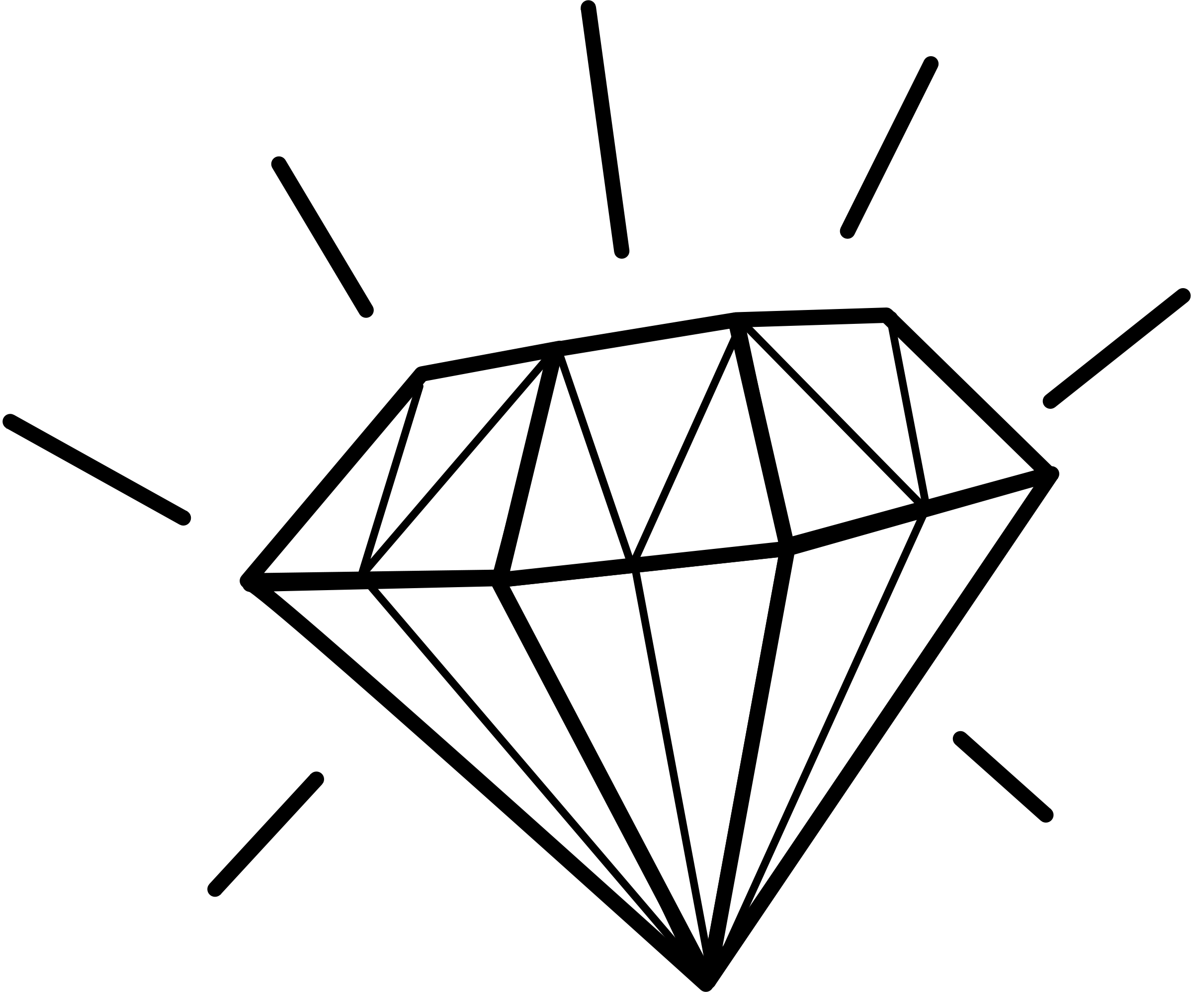 Diamonds clipart colouring page. Diamond drawing template at