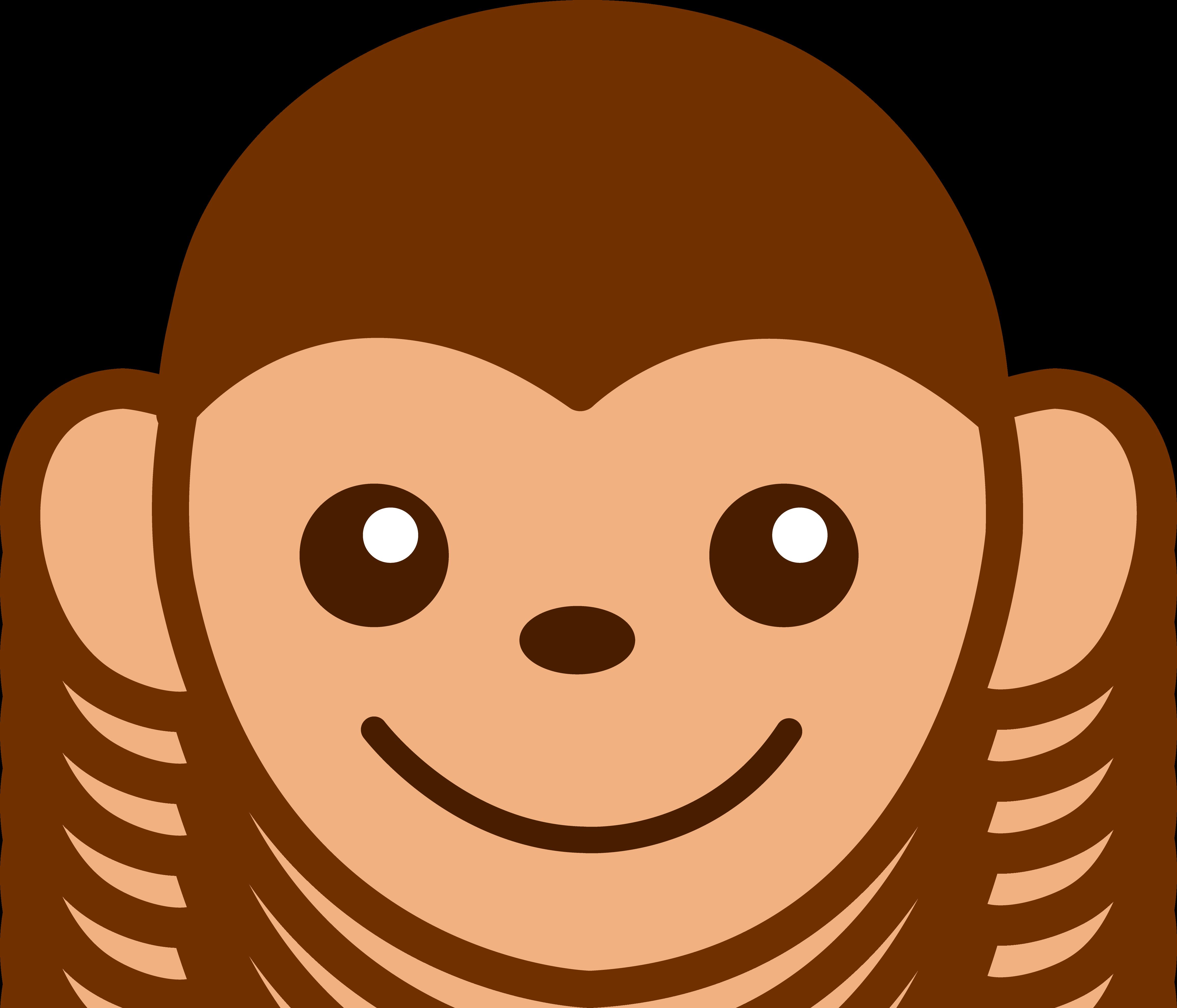 Faces clipart easy. Clip art cute monkey