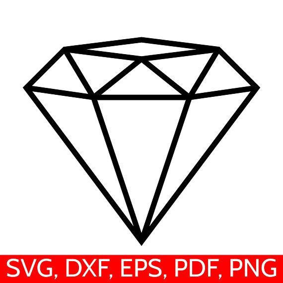 Svg file for cricut. Diamond clipart dimand