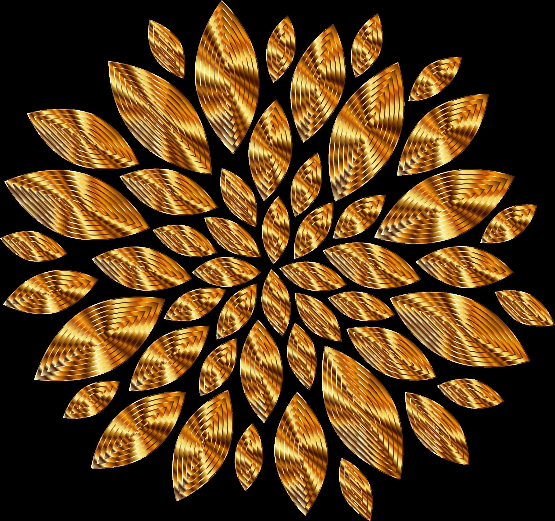 Gold petals variation big. Clipart diamond flower