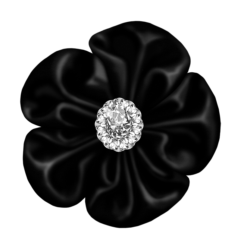 Black flower png. Bow with diamond gallery