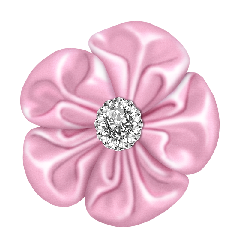 Clipart diamond flower. Light pink bow with