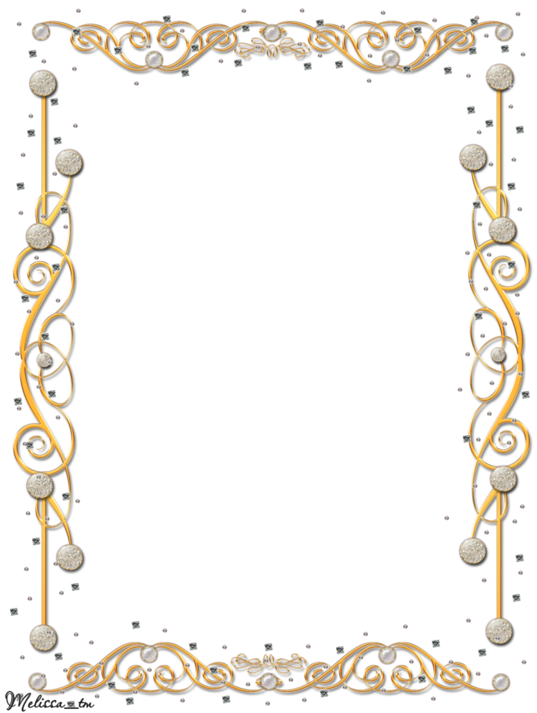Scroll clipart christmas. Golden frame with gems
