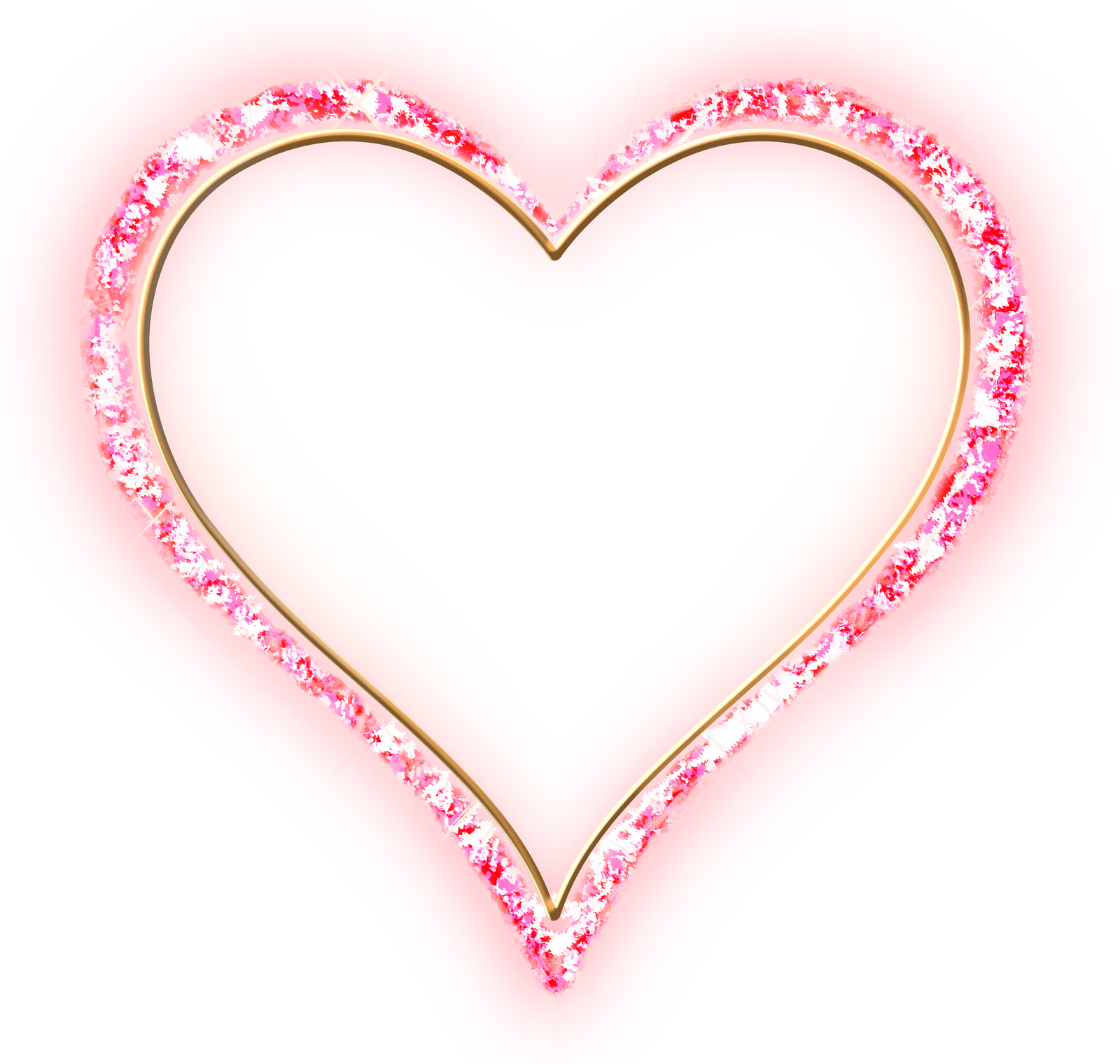 Heart frame png. Pink diamond transparent gold
