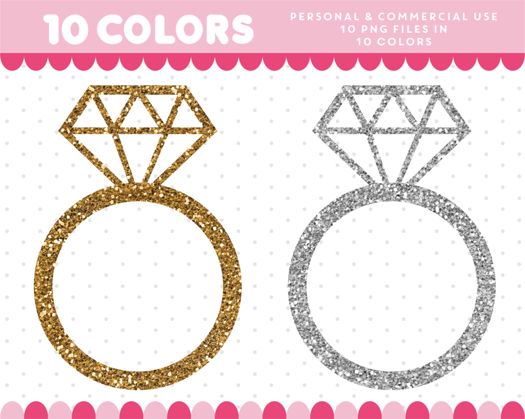 Clipart diamond gold glitter. Ring may at