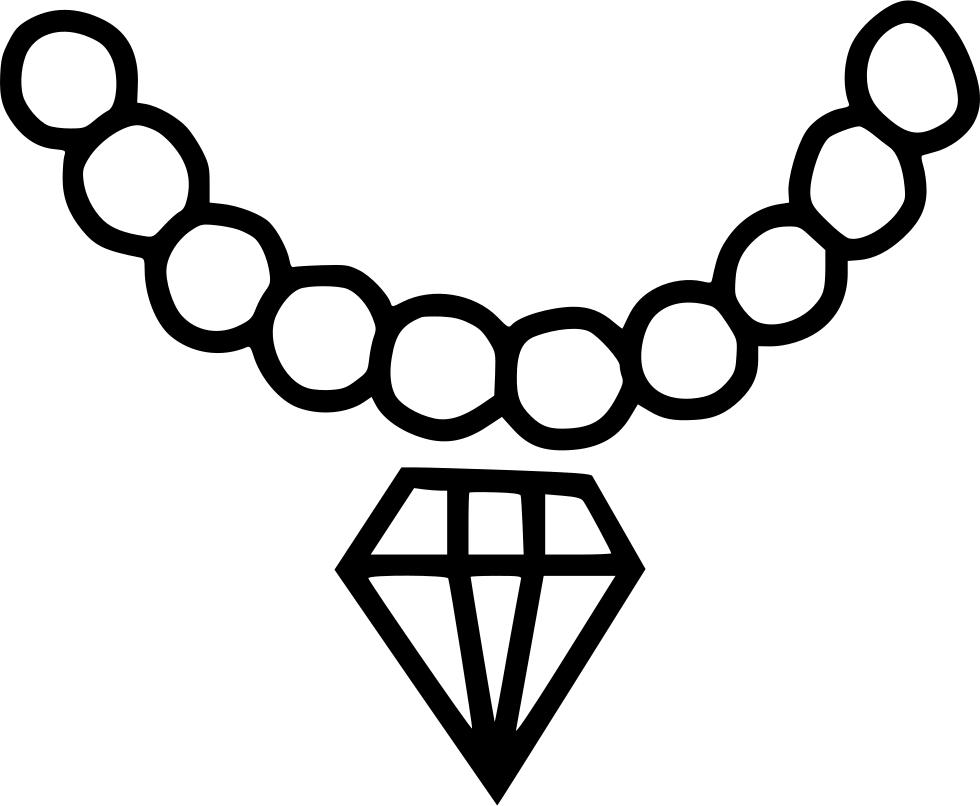 Party wear necklace diamond. Jewel clipart daimond