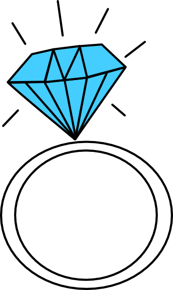 Free ring pictures clipartix. Diamond clipart teal