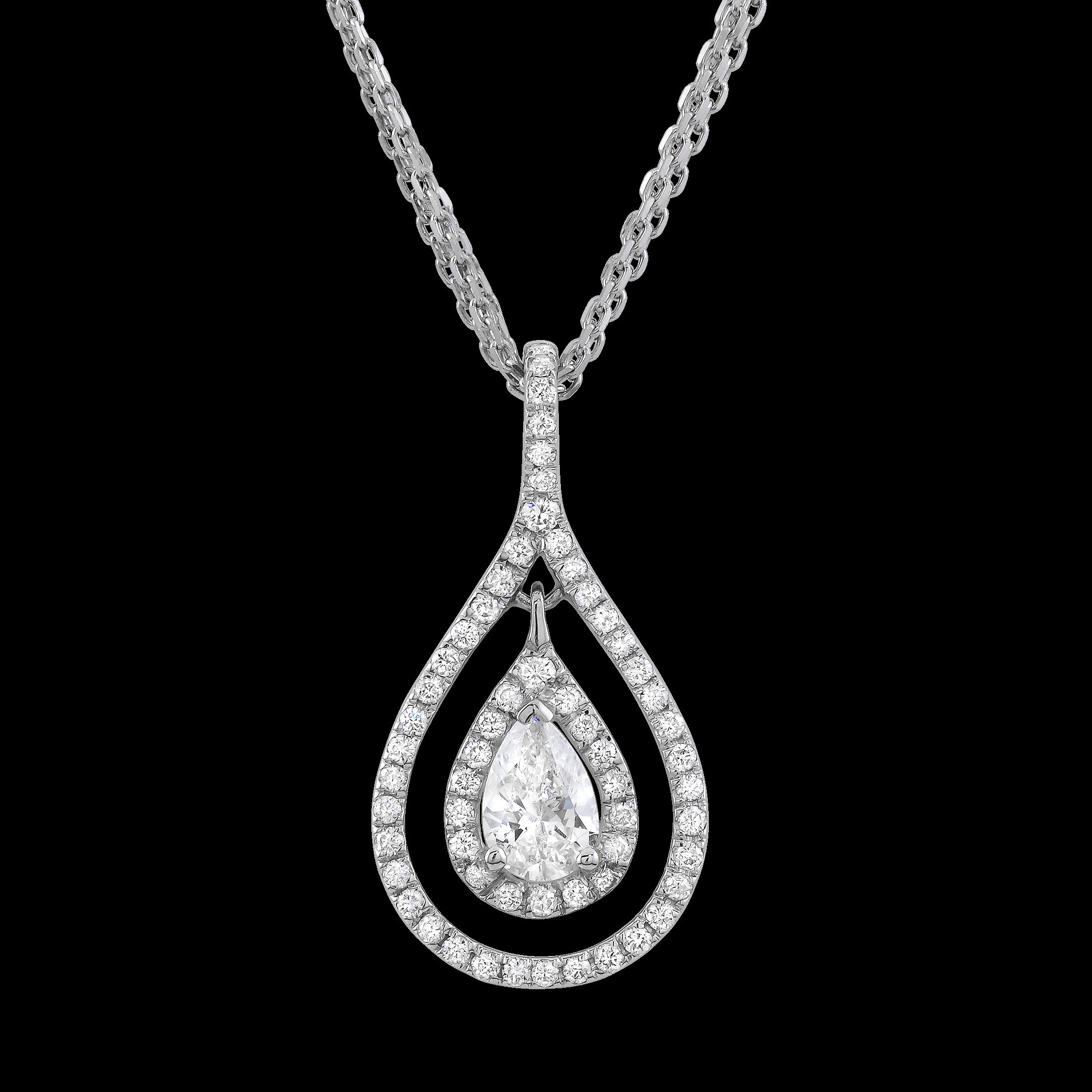 Cut diamond necklace. Pear clipart beautiful
