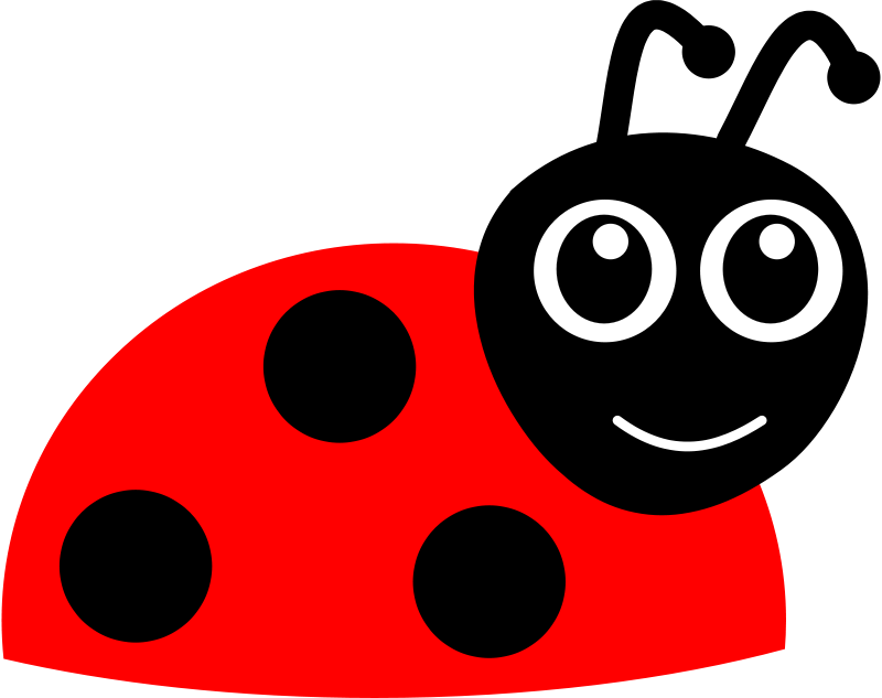 Kids clipart insect. Free cartoon ladybug animals