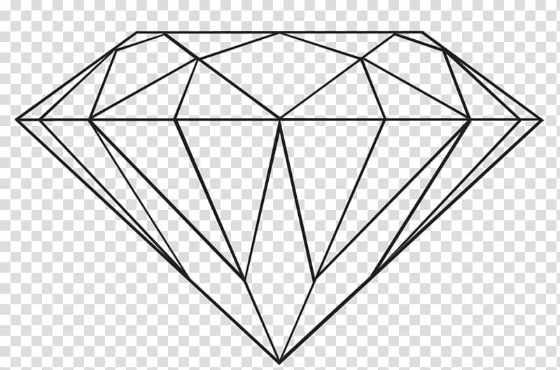 Diamond illustration transparent . Diamonds clipart line drawing