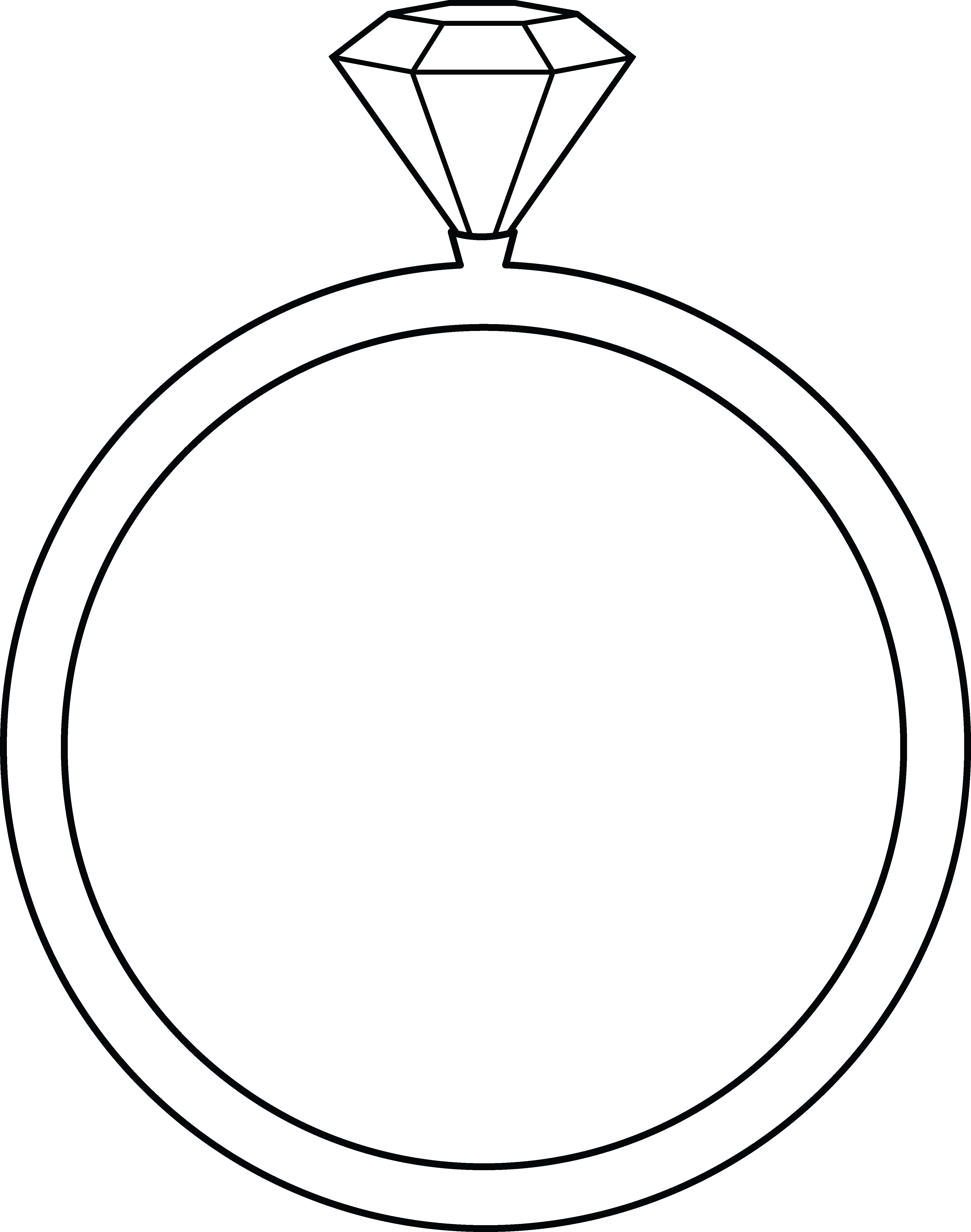 Ring art free clip. Clipart diamond line drawing