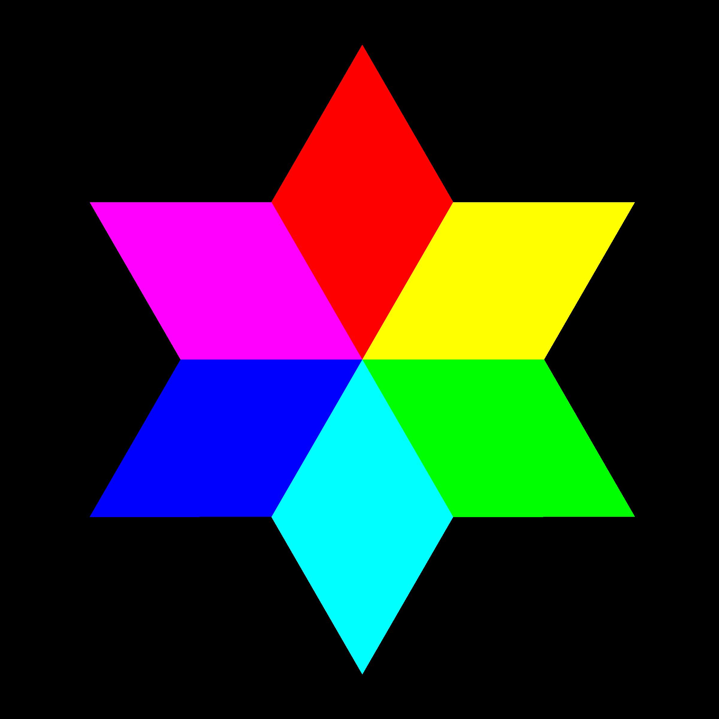 Clipart diamond logo. Color hexagram big image